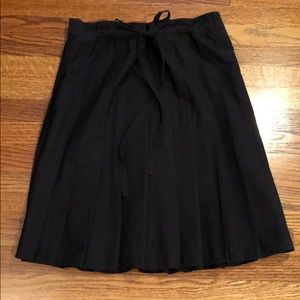 Paperbag Black BCBGMaxazria Pleated Skirt